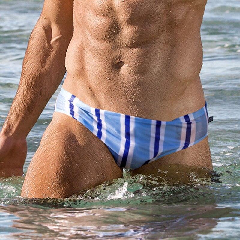 3d0c118f1d2 Товар AUSTINBEM A236 Sexy Striped Swimwear Men Swimsuits Swim Trunks ...