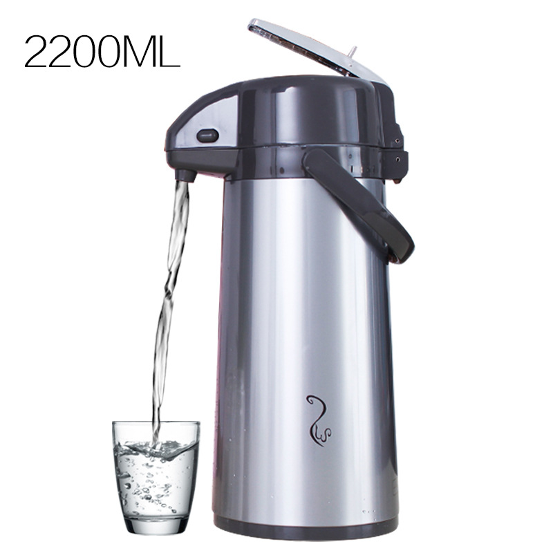 LK151 Pressure Thermos Household 36h Insulation Pot 2.2L/2.5L Aluminum Alloy Thermos 36h Vacuum Glass Liner Thermal Bottle itech lk 207