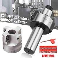 WOLIKE C20 FMB22 Rosto Fresa CNC Cortador Cortador Com 10 BAP400R 50 20 pcs APMT1604 Pastilhas de Metal Duro Ferramenta CNC Suporte p/ ferramenta     -