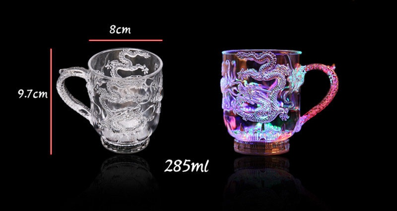 Unique Design LED Toy Light Color Change Pouring Water Activates Light up Dragon Luminous Cup for Holiday Party Decoration Lamp (10)