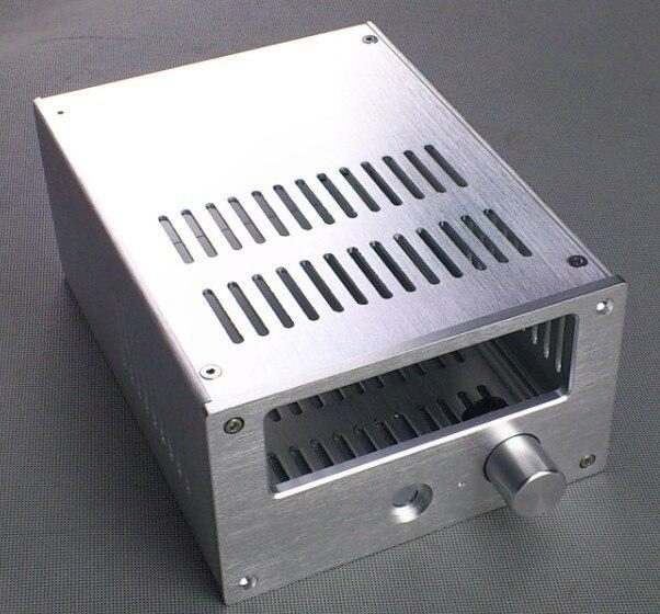 Silber Alle aluminium verstärker chassis/röhrenverstärker/vorverstärker chassis/AMP Gehäuse/fall/DIY box (168*100*229mm)