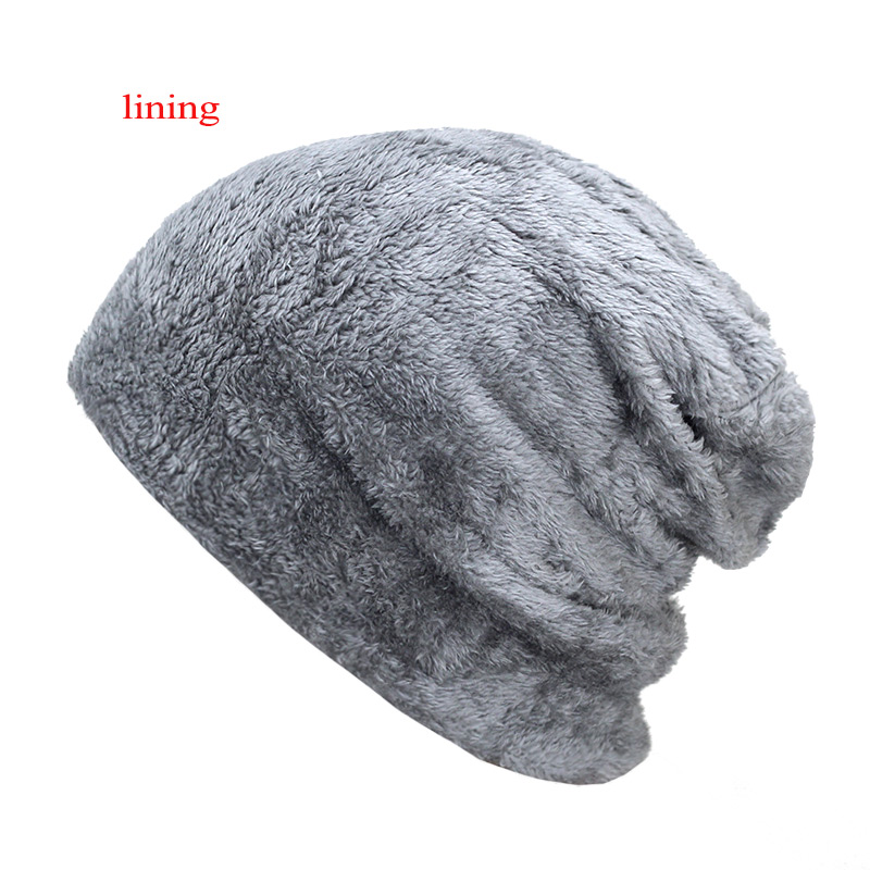 bb5715fb5 New Men's winter Fall hat fashion knitted black ski hats Thick warm hat cap  Bonnet Skullies Beanie Soft Knitted Beanies Cotton