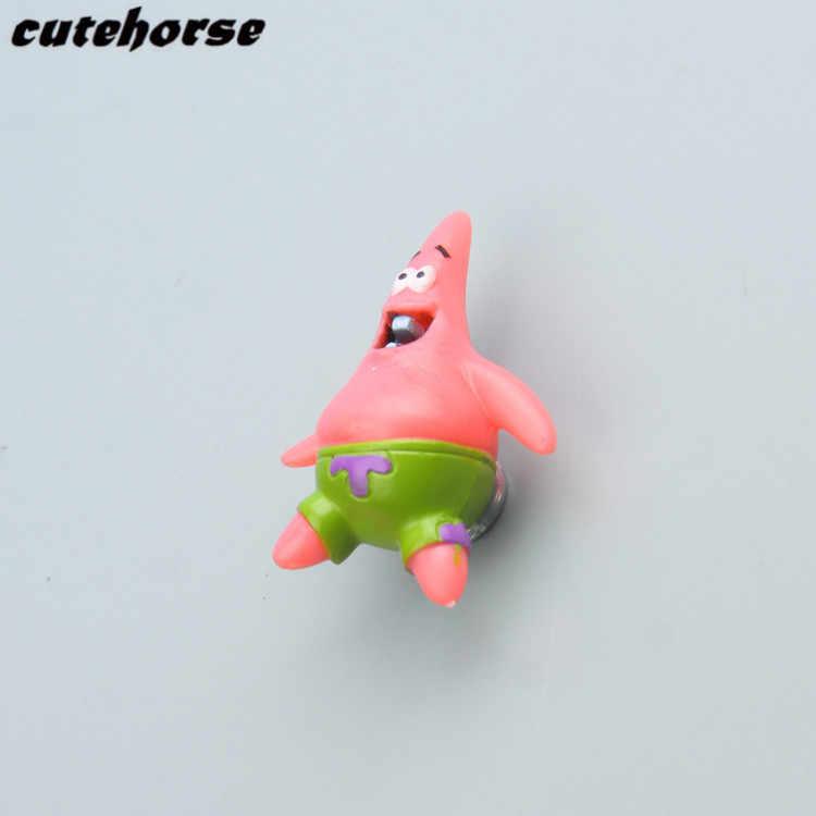 Творческий мультфильм Губка Боб серии украшения магнит на холодильник наклейки 5 шт./компл. 3D магнит на холодильник наклейки