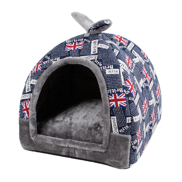 Small Pet House Warm Cat Bed Foldable