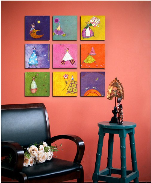 Fairy Of Provence SeriesSeries Wall Painting ,Photo,pictures,Most Popular  Flower Colorful Baby