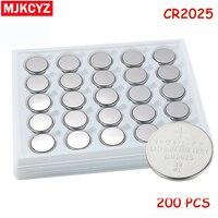 200 adet/grup CR2025 3 V Hücre Para Düğme Pil lityum Li-Ion ECR2025 DL2025 BR2025 KL2025 L2025 Saatler, saatler oyuncaklar