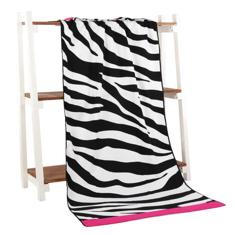 دافئة وناعمة زيبرا نمط منشفة ستوكات الطباعة النشاط الشاطئ منشفة الشعر سوبر لينة المياه 70*140 Cm