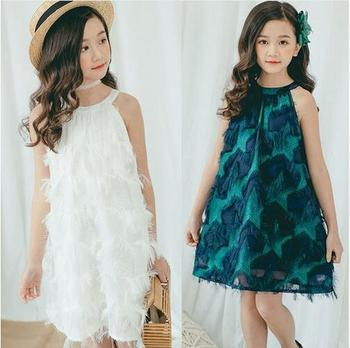 3145152d5f23 Teenage Girl Summer Dress Size 10 12 14 White Party Wedding Little Girl  Dresses Princess Kids Clothes Age 4 6 8 Green Clothing