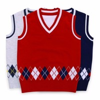 2017 New Design Boys Vest Cardigan Sweater Brand Preppy Style Boys Autumn Knitted Vest Coat Boys