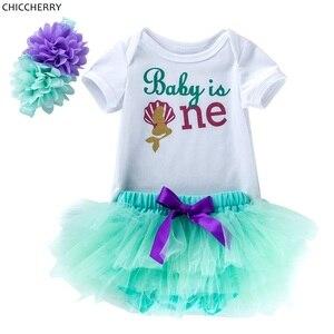 Платье на день рождения 1 год, модная летняя одежда для маленьких девочек, боди для девочек, кружевная юбка, повязка на голову, комплекты с юб...