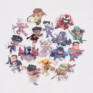 Image 3 - 101pcs/set Juguetes de Marvel Los Vengadores Endgame  Pegatinas Superhéroe Hulk El Hombre Hierro Hombre Araña Capitán América Sticker de carro para Luggage
