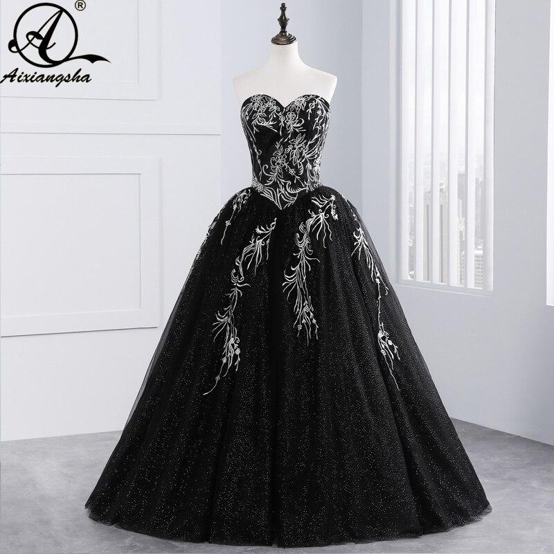 2018 черное бальное платье из тюля с вышивкой из бисера 16 платьев Пышное Бальное Платье Vestido De 15 Anos Vestidos