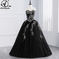 Pretty New Style Blue Tulle High Neck Sequined Beaded Floor Length Quinceanera Dresses 2017 New