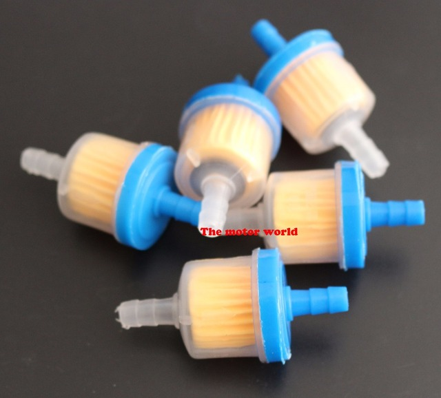 new 100pcs universal atv motorcycle small engine fram plastic inline fuel  filters fuel gas gasoline filter