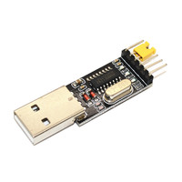 USB to TTL CH340 module CH340G upgrade STC microcontroller download a small wire brush plate board USB to serial