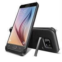 Samsung Galaxy S6 S6Edge için 4200 mah Harici Batarya Kutusu Yedekleme Şarj Şarj Kasa Güç Bankası Powerbank ile Kickstand