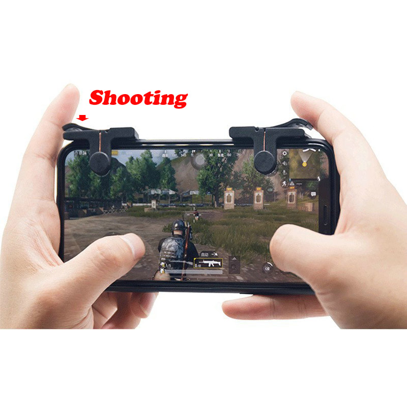 2pcs/set Knives Out Rules Of Survival Mobile Game Fire Button Aim Key Smart Phone Mobile Gaming Trigger L1R1 Shooter Controller ...