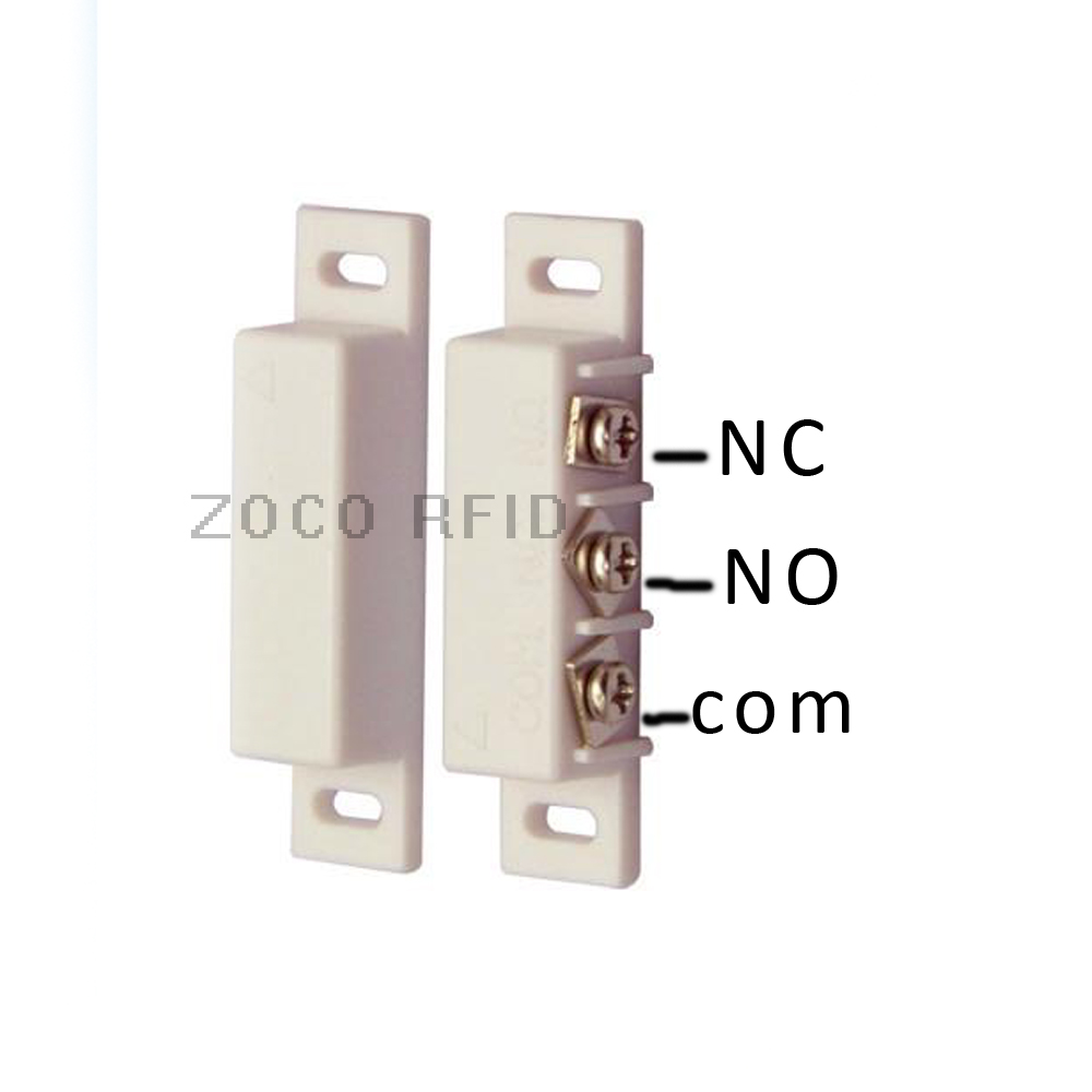 NC and NO two kinds type  Wired Metal Roller Shutter Door Magnetic Contact Switch Alarm  Door Sensor for Home Alarm System(China)