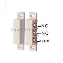 NC ve NO iki çeşit tipi kablolu Metal silindir kepenk kapı manyetik kontak anahtarı alarmı kapı sensörü ev Alarm sistemi