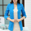 2016 new arrival spring women's plus size slim small suit female fashion blazer free shipping