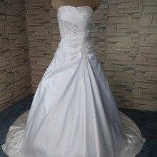Низкая цена! новые бисероплетение линия со шлейфом белые/цвета слоновой кости свадебные платья