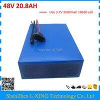 Free Customs Duty 1000W 48V 21AH Battery Pack 48V 20 8AH Lithium Battery Use Samsung 2600mah