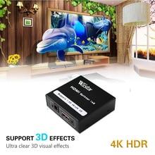 Wiistar HDMI Splitter 1x2 HDMI 1.4 Converter 1080P 1 In 2 Out Switcher Support 1.4V 4K 2K 3D for HDTV STB HDMI Splitter 2 Ports