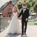 Spaghetti strap praia vestidos de casamento 2017 vestido noiva praia lorie simples branco tulle vestidos de casamento vestidos de noiva custom made