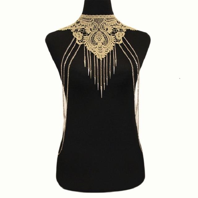 324c2e07a1 US $3.07 24% OFF|Sexy Crystal Bra Slave Harness Body Chain Women Rhinestone  Choker Necklace Rhinestone Bikini beach Fashion Body Jewelry 2018 -in Body  ...