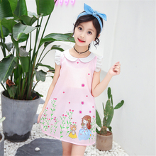 Hot Sale Girls Candy Color Princess Dress Summer Girls Fresh Style Dress New Fashion pretty Girl Clothing Children Tutu Costume