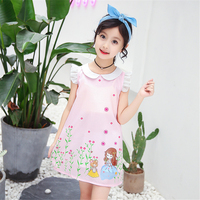Hot Sale Girls Candy Color Princess Dress Summer Girls Fresh Style Dress New Fashion Pretty Girl