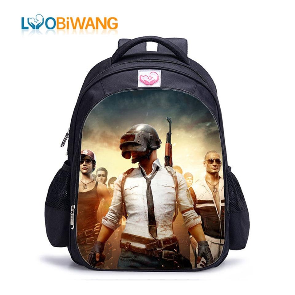 LUOBIWANG Game Printing Children's School Backpacks For Teenager Boys And Girls 2019 Kids Sweet  Cartoon School Bags  Bookbag