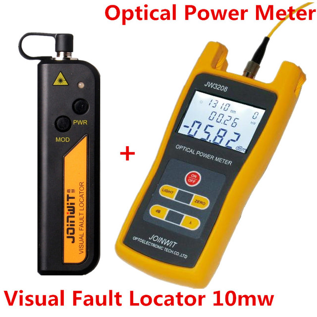 Free Shipping JW3208A Handheld Optical Power Meter with JW3105N Visual Fault Locator 10mw