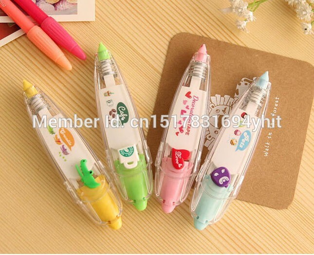 Korea-Stationary-Sweet-Floral-Correction-Tape-Pen-Sticker-Kids-Students-Decorative-Masking-Tapes-Adesivos-Label-Tape-Stickers-4