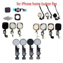 Home Buttom with Flex Cable for iPhone 5 5S SE 6 6S 6Plus 6sPlus 7 Plus Assembly Sensor Ribbon Complete Spare Parts Replacement