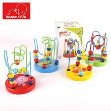 MAMACLEVA Children Wooden Mini Around Beads Toys Childhood Colorful Montessori Toy Hand Crafts Art Enlightenment Educational Toy