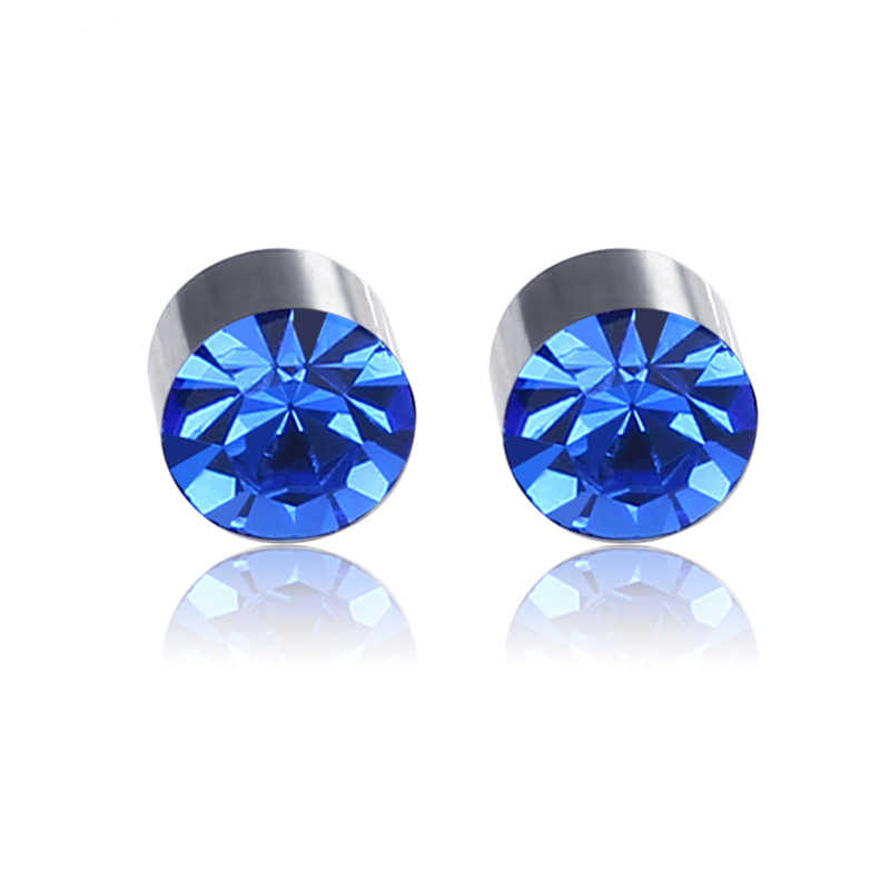JeeMango нержавеющая сталь 10 цветов кубический цирконий не надо прокалывать уши серьги Здоровье магнитный зажим серьги для женщин мужчин C00006