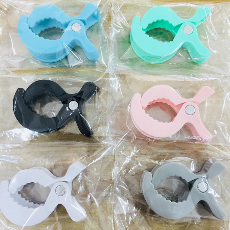 Candy Blue Lamp Pram Stroller 1pc To Hook Muslin And Toys Blanket Clips Plastic Universal Clip Baby Toys Accessories