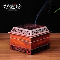 Red rosewood wood incense coil furnace classic hollow wood beautifully perfumed incense burner incense boxes featured