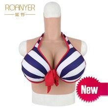 Roanyer трансгендер Трансвестит искусственные, силиконовые искусственные груди чашка H мужчин и женщин реалистичные переодевание Ложные сиськи