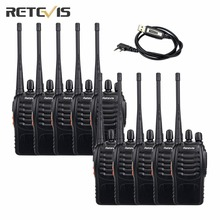 10 pcs Walkie Talkie Transceiver Retevis H-777 Handy Radio 3W Portable Ham Radio Two Way Radio+A Programming Cable A9015A