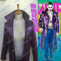 2016 Novo Chegada do Esquadrão Suicida Jared Leto Batman Joker Jacket Cosplay Traje Casaco Trench Coat