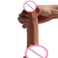 Mlsice огромный мягкий двойной силиконовый фаллоимитатор реалисте гибкий пенис Дик взрослый мужчина искусственный пенис секс-игрушки для жен...