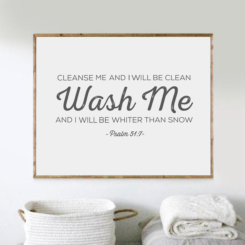 laundry wall art bible verse print wall pictures