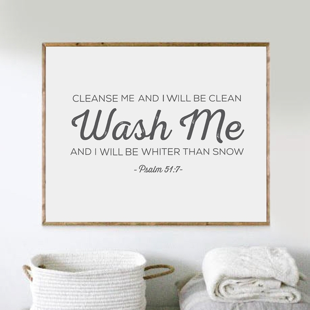 Laundry Wall Art Verse Print Pictures Scripture Poster Canvas Room Decor