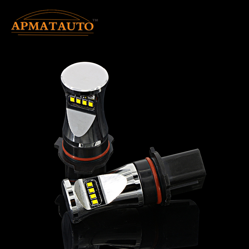 2x White By Philips Chips LED Fog Bulbs For Mazda CX-5 Toyota Highlander Kluger Chevy Camaro Peugeot 508  Daytime Running Light точечный светильник philips led 2 5 3 5w3