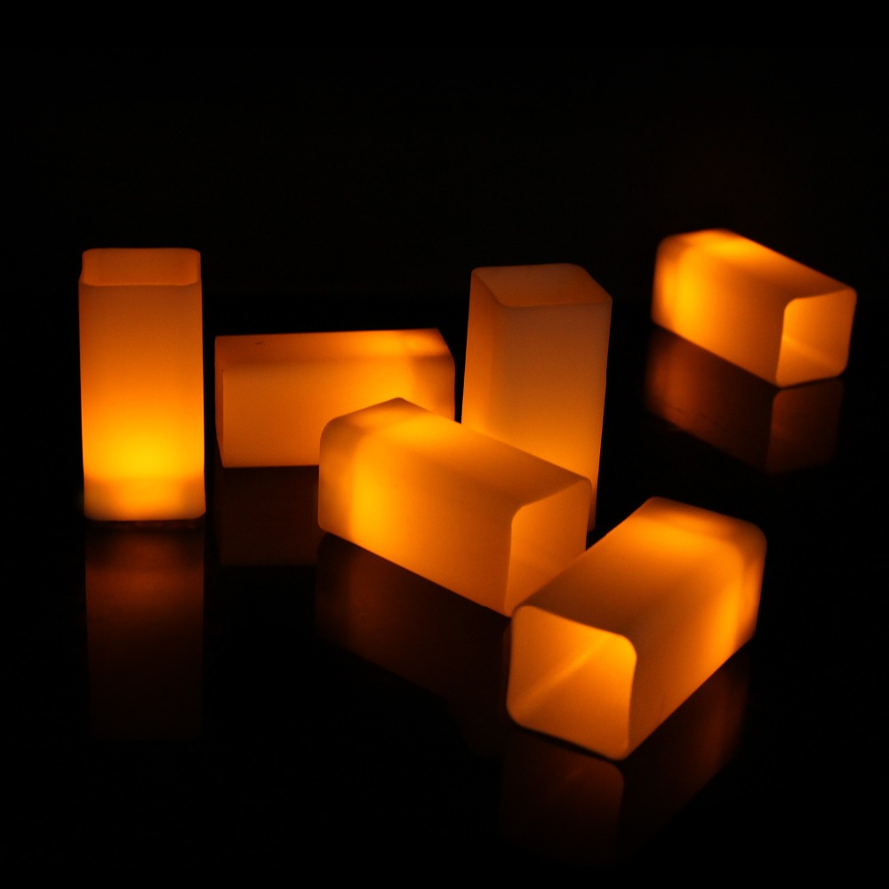 5009242798_1650456754  12pcs Flickering LED Candles Sq. Pillar Faux Candle Electrical Tealight for Residence Decor Wedding ceremony Events HTB1ptQTB9tYBeNjSspaq6yOOFXaa