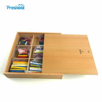 Montessori Baby Kids zabawki Froebel Gabe 8 drewniane patyczki narzędzie do nauczania nauka edukacyjne przedszkole szkolenia Brinquedo Juguets tanie i dobre opinie Preskool Drewna Small Parts Math Toy 2-4 lat Unisex