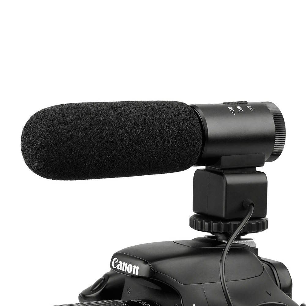 MAILADA DSLR Camera Microphone Professional Photography Interview Wired Mic For Nikon Canon Record Video Studio Camcorder Micro