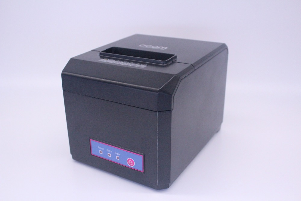 OCPP-80F(USB+COM+LAN): Ajustable Waterproof thermal printer pos printer in favor of 80MM and 58MM Thermal Paper